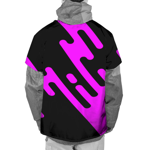 Накидка на куртку 3D  Фото 02, Pink geometry
