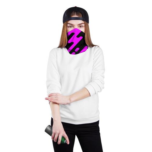Бандана-труба 3D  Фото 02, Pink geometry