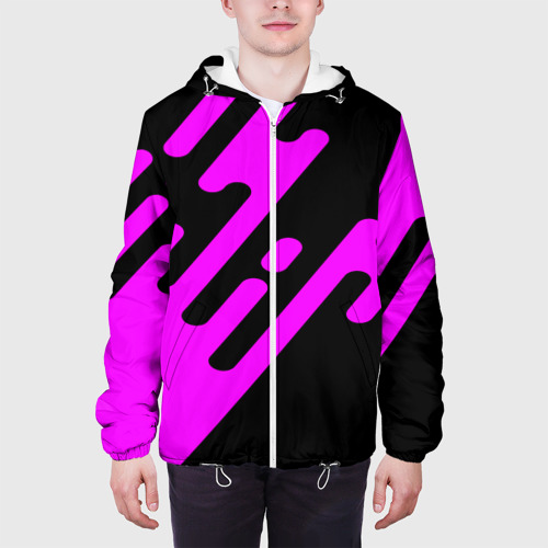Мужская куртка 3D  Фото 04, Pink geometry