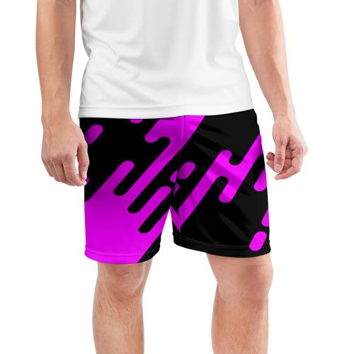 Мужские шорты 3D спортивные  Фото 03, Pink geometry