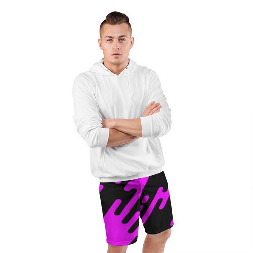 Мужские шорты 3D спортивные  Фото 05, Pink geometry
