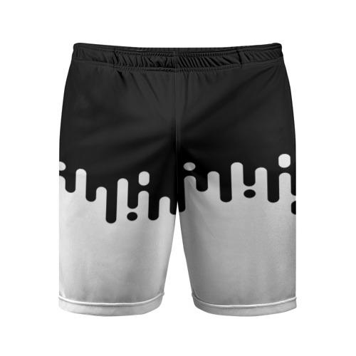 Мужские шорты 3D спортивные Чёрно-белый узор