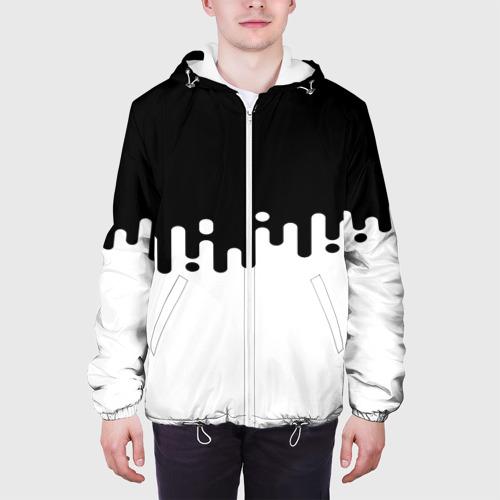 Мужская куртка 3D  Фото 04, Чёрно-белый узор