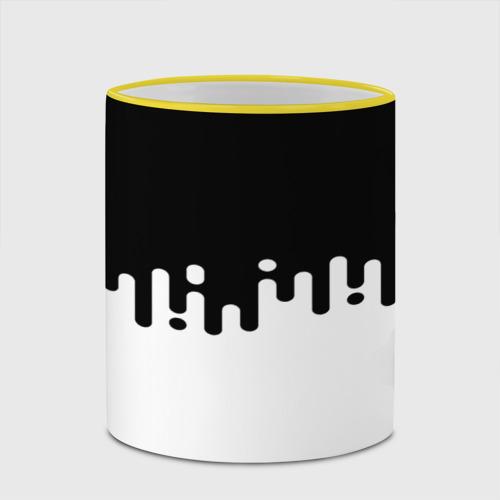 Кружка с полной запечаткой  Фото 03, Чёрно-белый узор