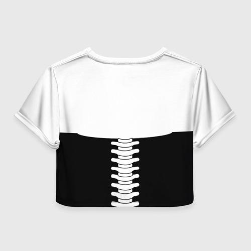 Женская футболка 3D укороченная  Фото 02, Мясо да Кости 2