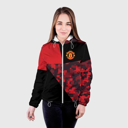 Женская куртка 3D  Фото 03, Manchester United 2018 Sport