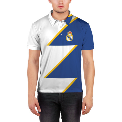 Мужская рубашка поло 3D  Фото 03, Real Madrid 2018 Storm