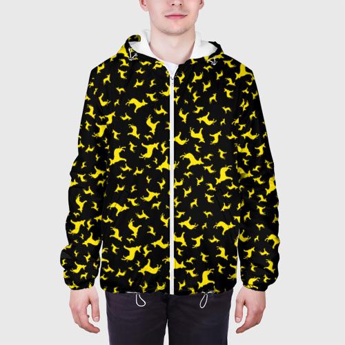 Мужская куртка 3D  Фото 04, Желтые собачки