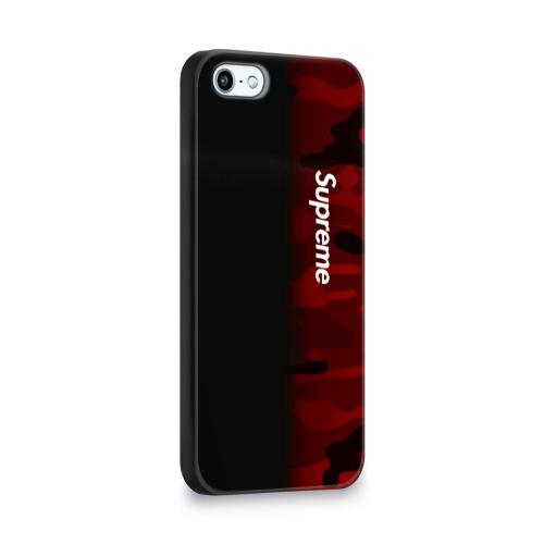 Чехол для Apple iPhone 5/5S 3D  Фото 02, Supreme Military Black Red