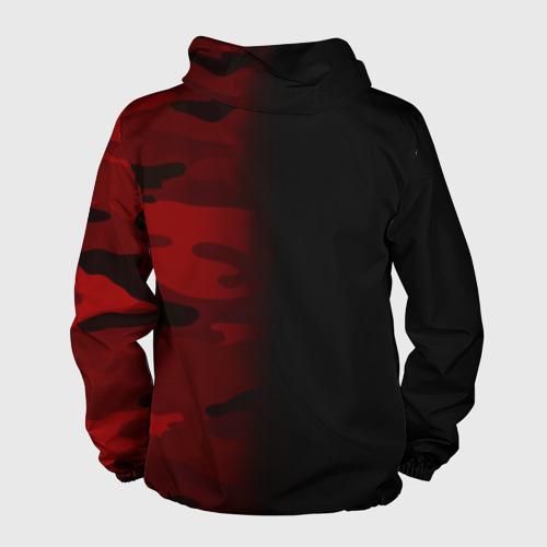 Мужская ветровка 3D 'Supreme Military Black Red'