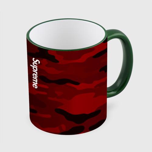 Кружка с полной запечаткой Supreme Military Black Red