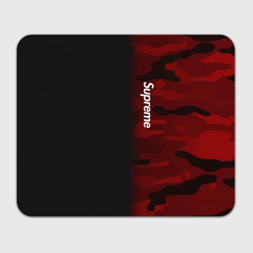 Коврик для мышки прямоугольный Supreme Military Black Red  Фото 01