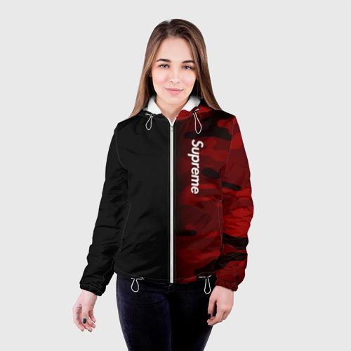 Женская куртка 3D Supreme Military Black Red  Фото 01