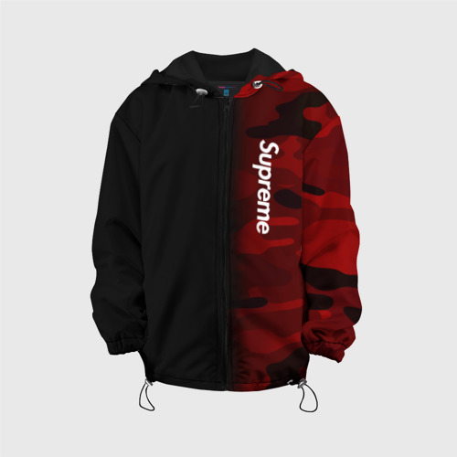 Детская куртка 3D Supreme Military Black Red