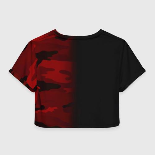 Женская футболка Cropp-top Supreme Military Black Red  Фото 01