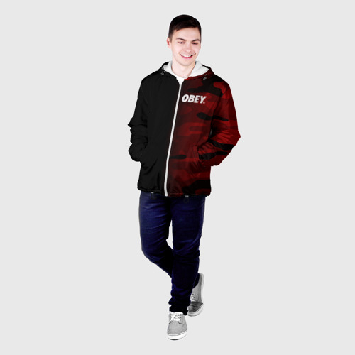 Мужская куртка 3D  Фото 03, Obey Military Black Red