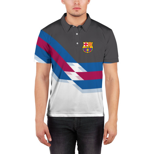 Мужская рубашка поло 3D  Фото 03, FC Barcelona 2018 №1