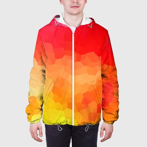 Мужская куртка 3D  Фото 04, Яркая абстракция