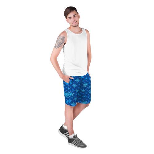 Мужские шорты 3D  Фото 03, Снежинки 2018