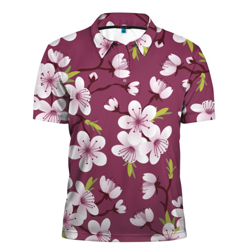 Мужская рубашка поло 3D  Фото 01, Сакура