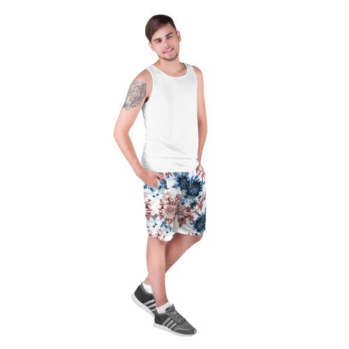 Мужские шорты 3D  Фото 03, Blue and Red