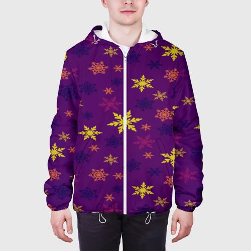 Мужская куртка 3D  Фото 04, Зимние снежинки