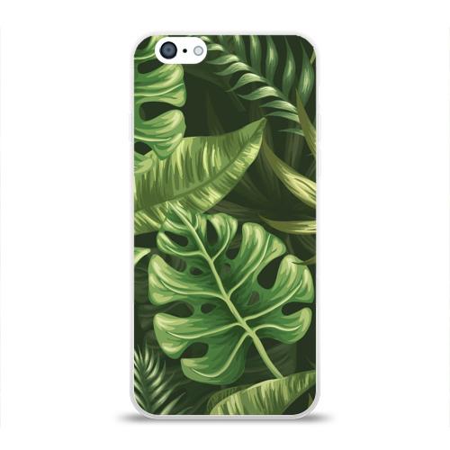 Чехол для Apple iPhone 6 силиконовый глянцевый Доисторический лес Фото 01
