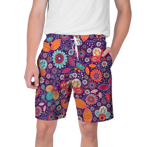 Мужские шорты 3D  Фото 01, Цветочный взрыв