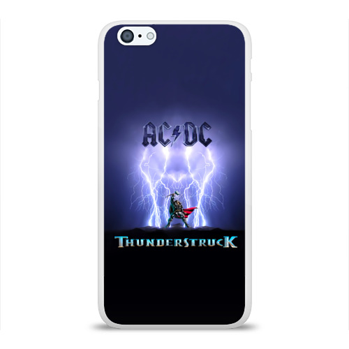 Чехол для Apple iPhone 6Plus/6SPlus силиконовый глянцевый  Фото 01, AC DC Тор молнии