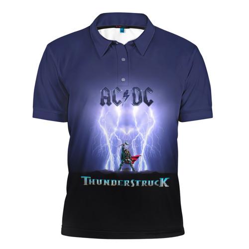 Мужская рубашка поло 3D  Фото 01, AC DC Тор молнии