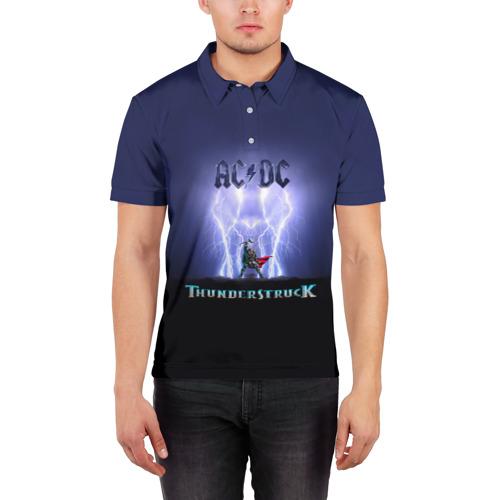 Мужская рубашка поло 3D  Фото 03, AC DC Тор молнии