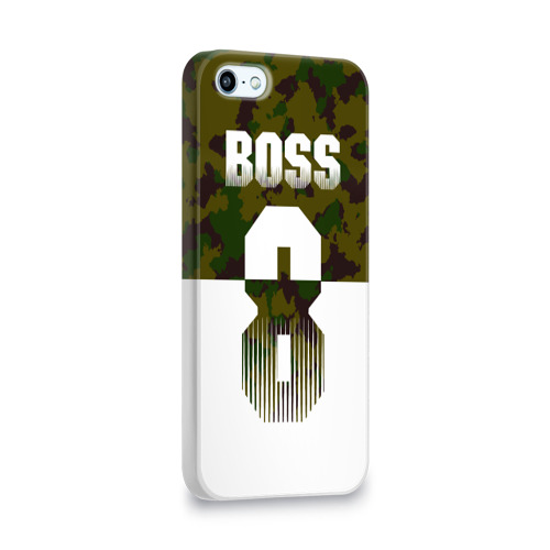 Чехол для Apple iPhone 5/5S 3D  Фото 02, BOSS 8 Military