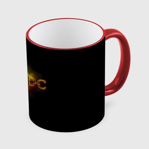 Кружка с полной запечаткой AC/DC огонь