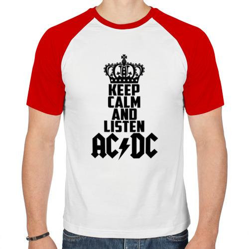 Мужская футболка реглан  Фото 01, Keep calm and listen AC/DC