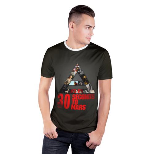 Мужская футболка 3D спортивная  Фото 03, Группа 30 Seconds to Mars