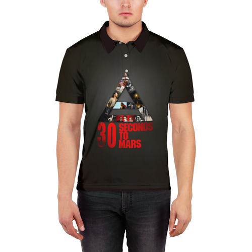 Мужская рубашка поло 3D Группа 30 Seconds to Mars