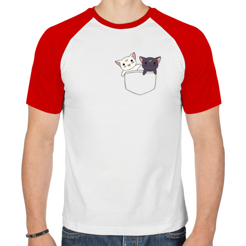 Мужская футболка реглан  Фото 01, Кисы