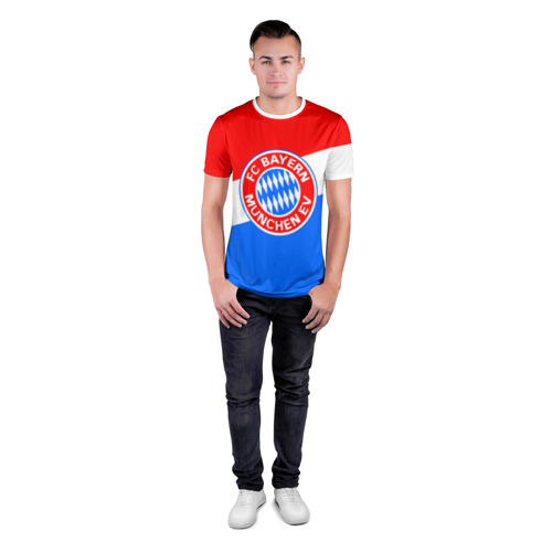 Мужская футболка 3D спортивная  Фото 04, FC Bayern 2018 Colors