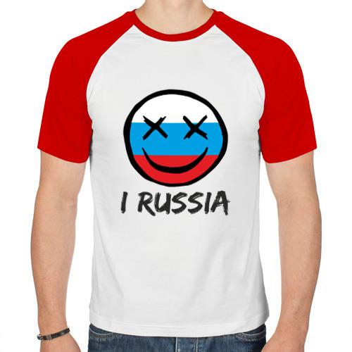 Мужская футболка реглан  Фото 01, Раша