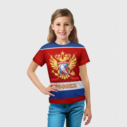 Детская футболка 3D  Фото 03, Хоккей России