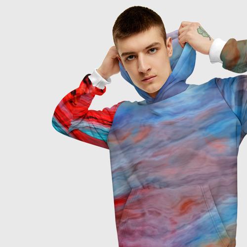 Мужская толстовка 3D  Фото 01, Цветной космос