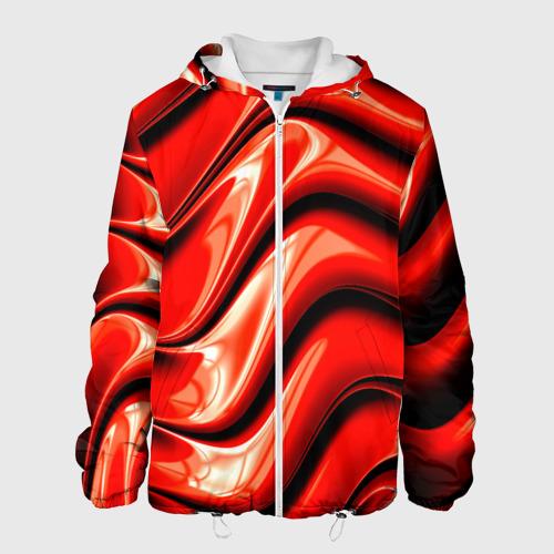 Мужская куртка 3D  Фото 01, Жидкие металл (красный)