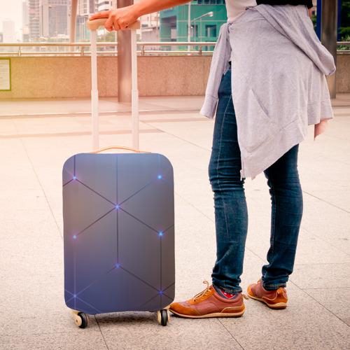 Чехол для чемодана 3D НЕЙРОННАЯ СЕТЬ Фото 01