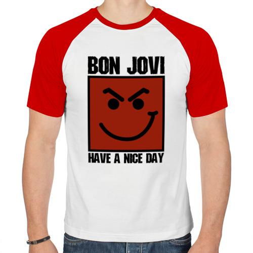 Мужская футболка реглан  Фото 01, Bon Jovi, have a nice day