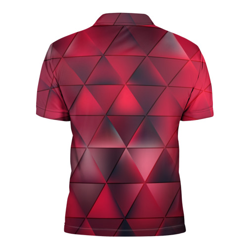 Мужская рубашка поло 3D  Фото 02, Dark Red