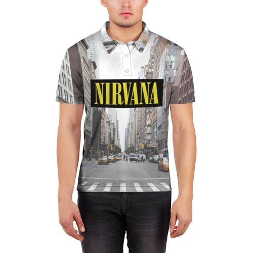 Мужская рубашка поло 3D  Фото 03, Nirvana