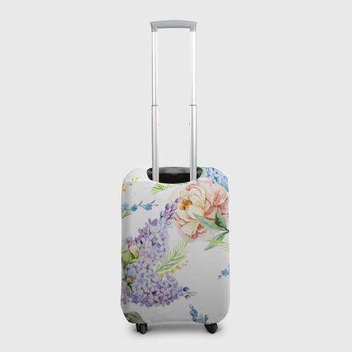 Чехол для чемодана 3D Сирень и Пионы Фото 01