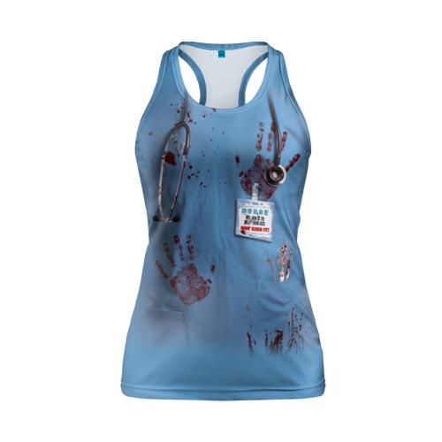 Женская майка 3D спортивная Костюм врача кровь
