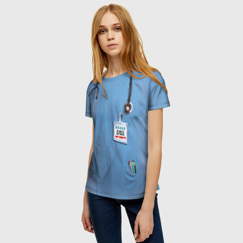 Женская футболка 3D Костюм врача Фото 01