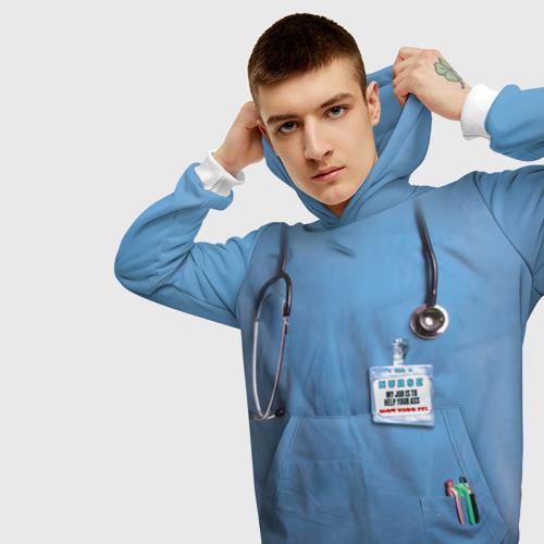 Мужская толстовка 3D  Фото 01, Костюм врача